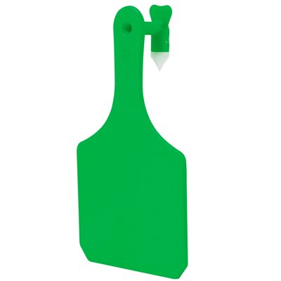 GREEN Y-TAG COW BLANK BAGS OF 25 OR 100