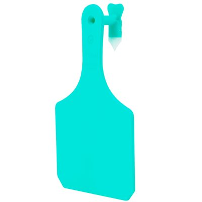 TURQUOISE Y-TAG COW BLANK BAGS OF 25 OR 100